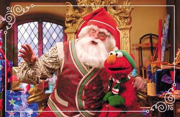 Elmo und Weihnachtsmann